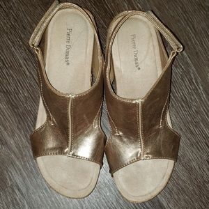 Pierre Dumas wedge sandals sz 7.5 worn once